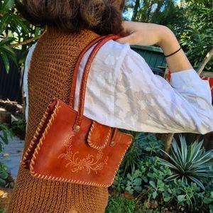 Vintage Leather Tan Shoulder Bag Handbag